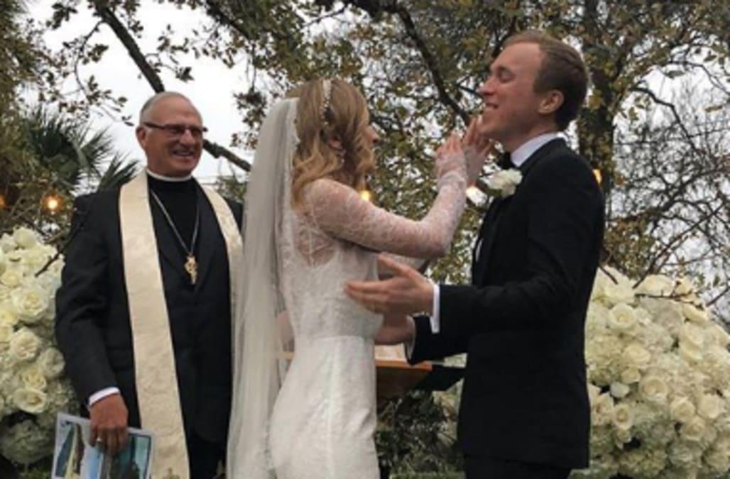 Barbara Bush Wedding Photos.George H W Bush S Granddaughter Ashley Weds In Texas
