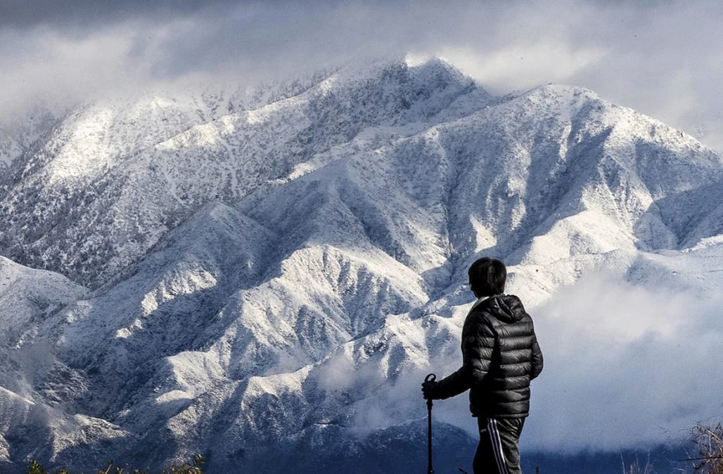 Thanksgiving Storm Blankets Southern California Mountains