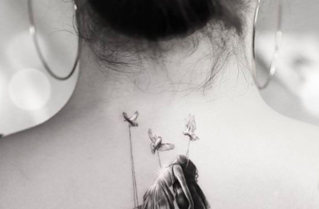 Demi Lovato debuts emotional new back tattoo