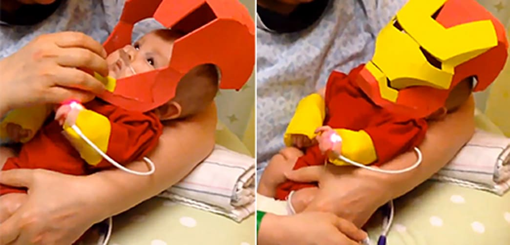 Dad Who Made Iron Man Costume For Sick Son Talks Viral Video Aol