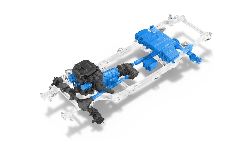 Jeep Wrangler 4xe powertrain diagram