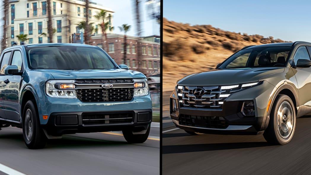 2022 Ford Maverick and Hyundai Santa Cruz