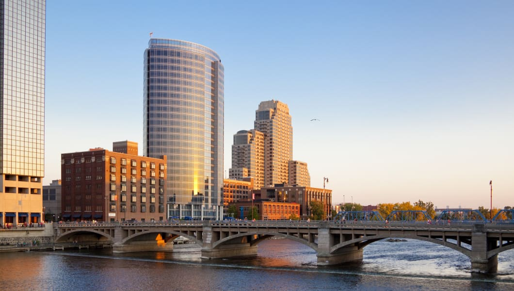 Skyline of Grand Rapids, Michigan