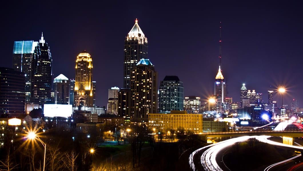 Atlanta city in night