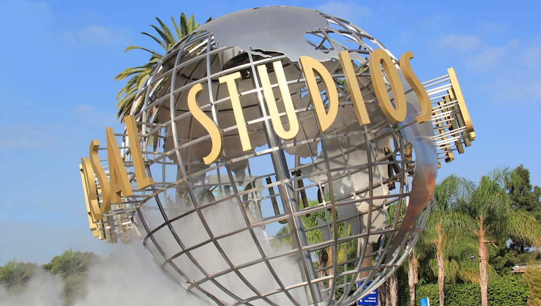 Los Angeles, California, USA - October 10, 2014: Universal Studios Hollywood, the Entertainment Capital of LA, is the first film studio and theme park of Universal Studios Theme Parks across the world. It consists of 7 rides, 5 shows, 2 performance areas and a retrospective museum.