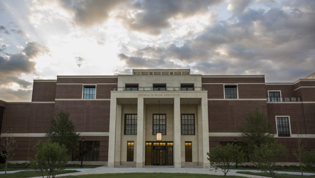 The George W. Bush Presidential Library on the campus of Southern Methodist University in Dallas. (Photo by Brooks Kraft LLC/Corbis via Getty Images)