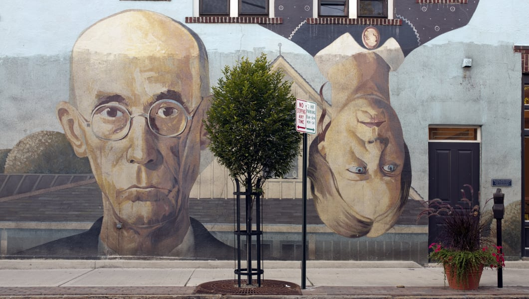 UNITED STATES - AUGUST 31:  American Gothic Mural, Columbus, Ohio (Photo by Carol M. Highsmith/Buyenlarge/Getty Images)