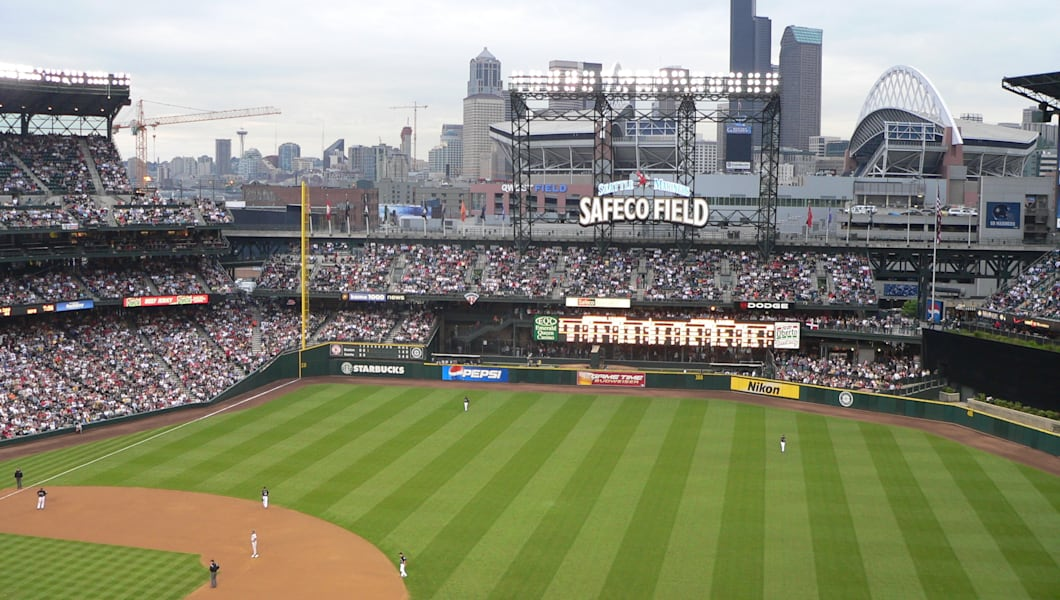 Safeco Field with roof open