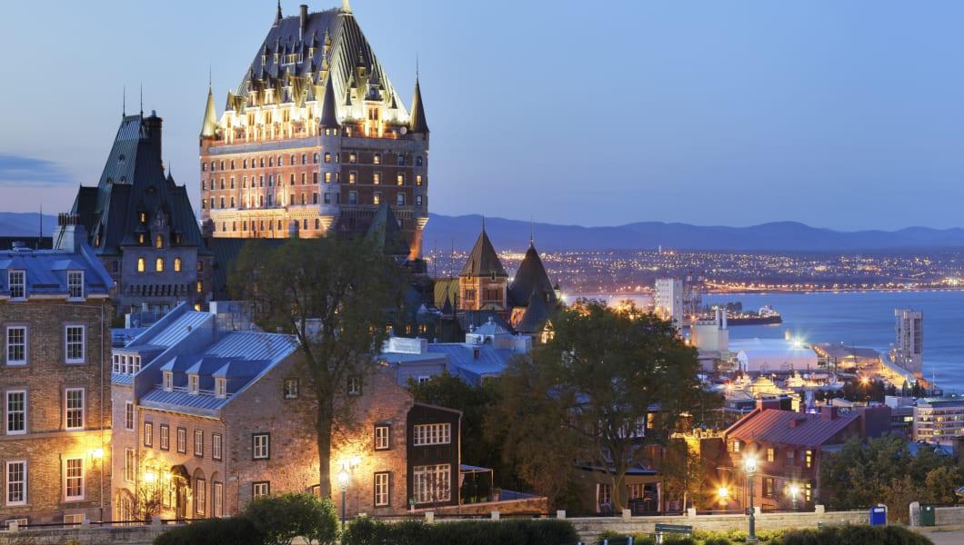 Quebec city skyline (Quebec, Canada).