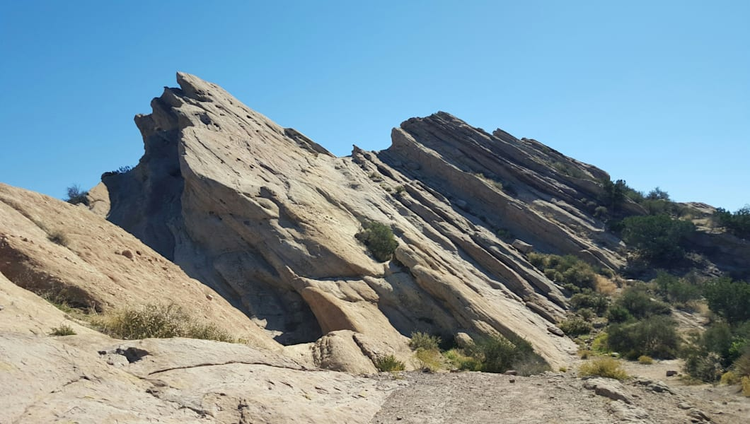 Vasquez Rocks At National Park Against Clear Sky