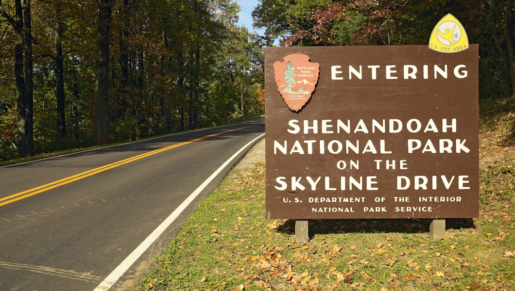 entering shenandoah national...