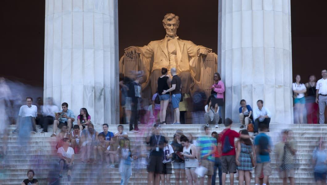 The Lincoln Memorial on the National Mall, Washington DC, USA.