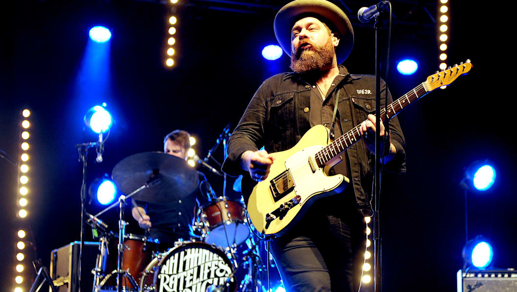 MANCHESTER, ENGLAND - NOVEMBER 18:  (EXCLUSIVE COVERAGE) Nathaniel Rateliff performs at O2 Apollo Manchester on November 18, 2016 in Manchester, England.  (Photo by Shirlaine Forrest/WireImage)