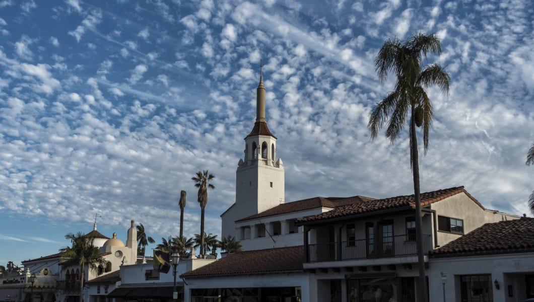 Historic old town in Santa Barbara, California