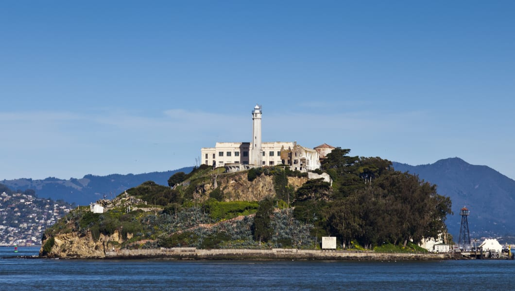 Alcatraz Prison Rock is located.