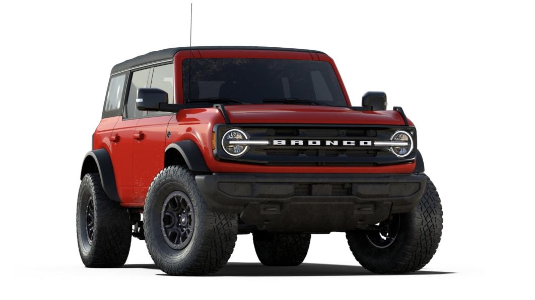 Ford stattet den Bronco Wildtrak 4-Türer 2022 serienmäßig mit einem Verdeck aus