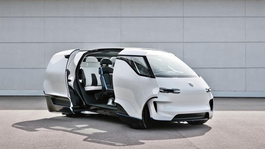 Porsche Vision Renndienst minivan gets futuristic 3-row layout