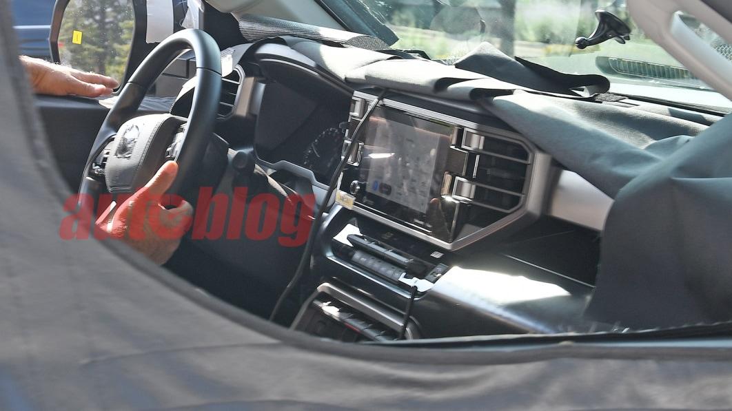 2022 Toyota Tundra spy photos show the new truck's interior