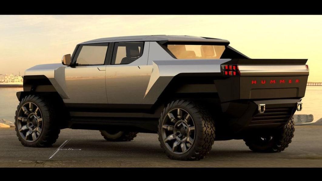 GM Design zeigt eine weitere frühe Skizze des Hummer EV