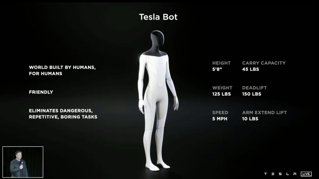 Elon Musk sagt, dass Tesla an einem humanoiden Roboter arbeitet