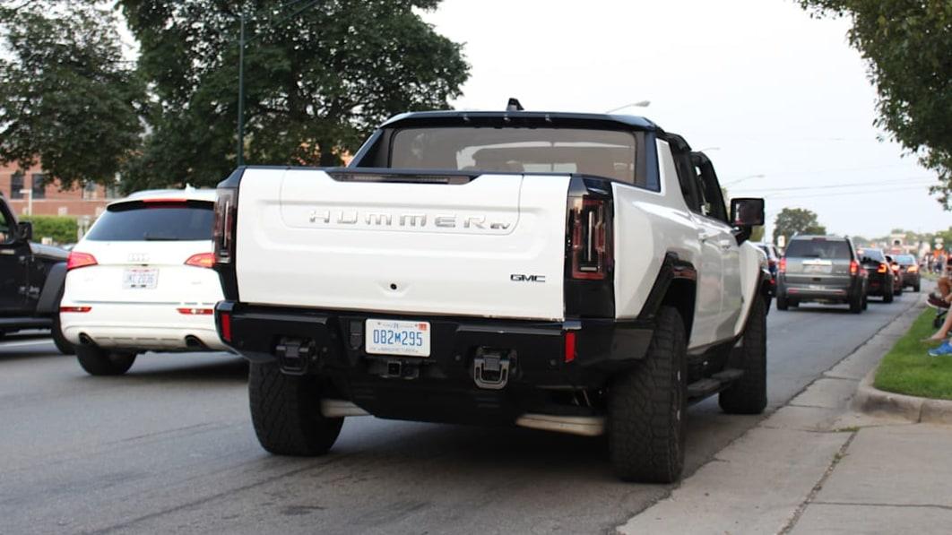 GM-Krabbe lief dieses Wochenende mit dem Hummer EV-Truck auf und ab in Woodward