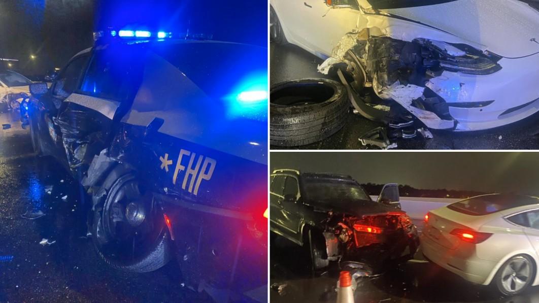 Ein weiterer Tesla mit Autopilot ist am vergangenen Wochenende mit einem Polizeiauto zusammengestoßen€