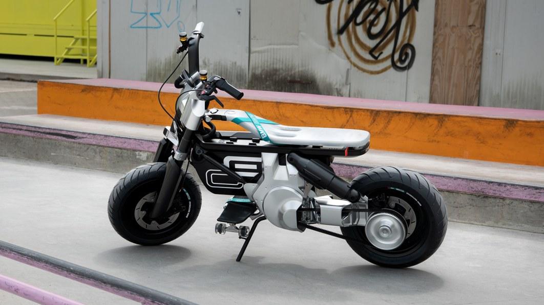 BMW Motorrad Concept CE 02 is a futuristic electric mini-bike