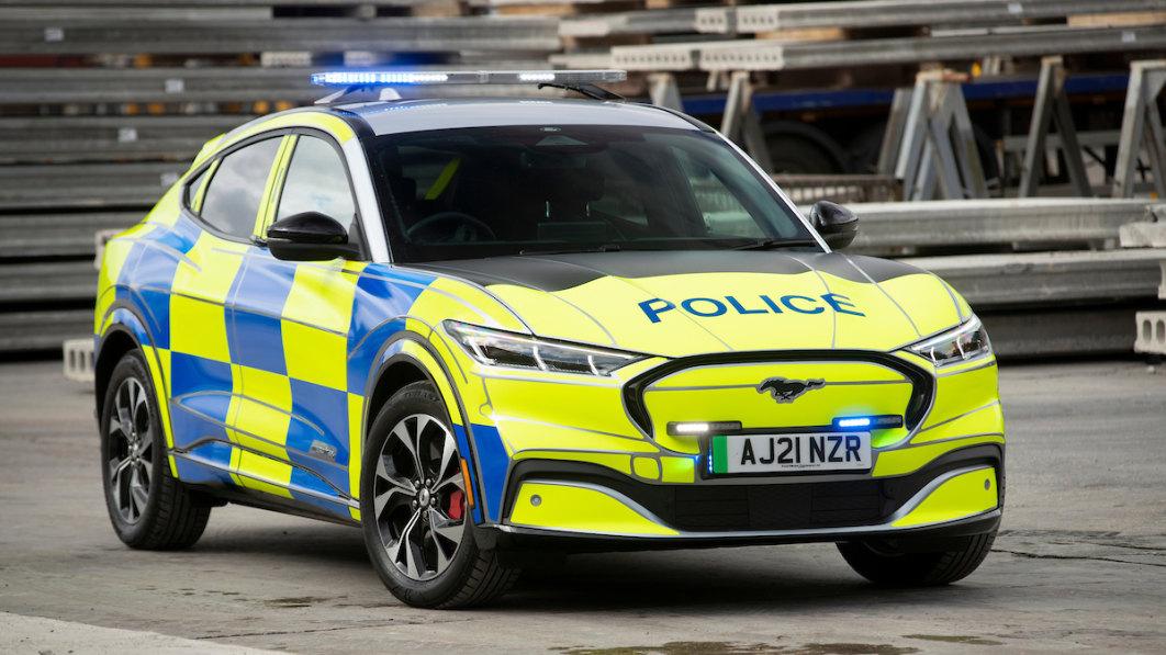 Ford Mustang Mach-E Polizeiauto-Konzept meldet sich zum Dienst in Großbritannien.