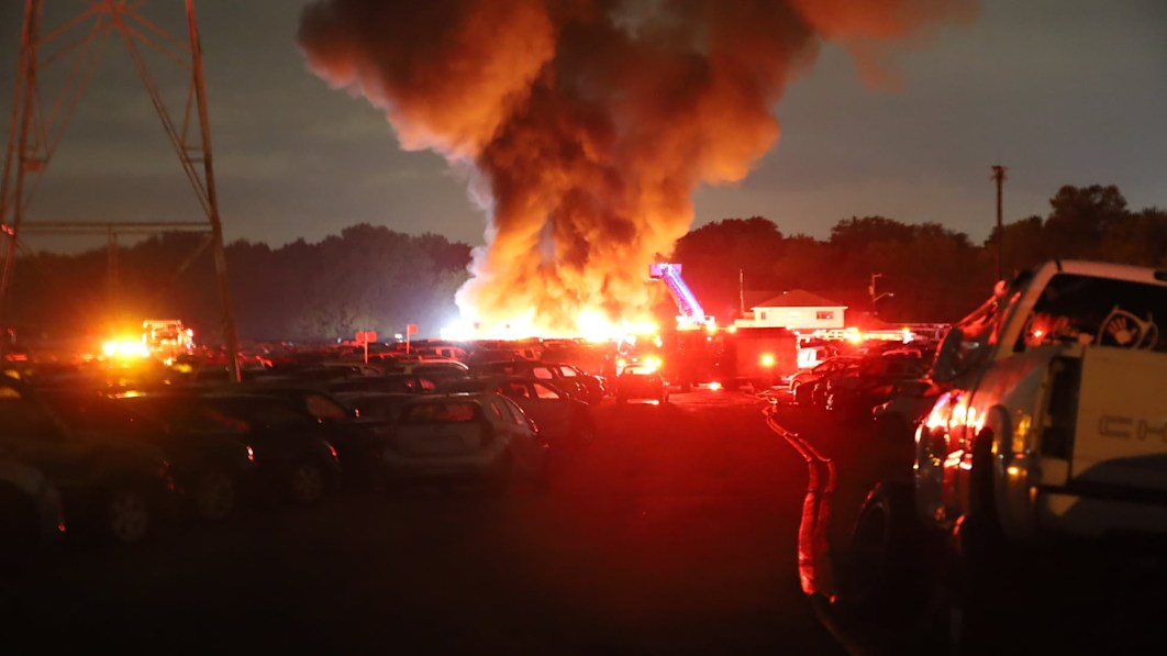 About 40 automobiles destroyed in Indianapolis public sale lot fireplace