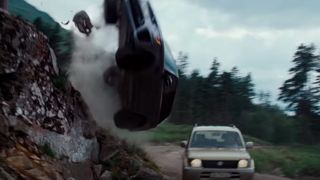 JLR shares backstage 'No Time to Die' Range Rover Sport SVR carnage