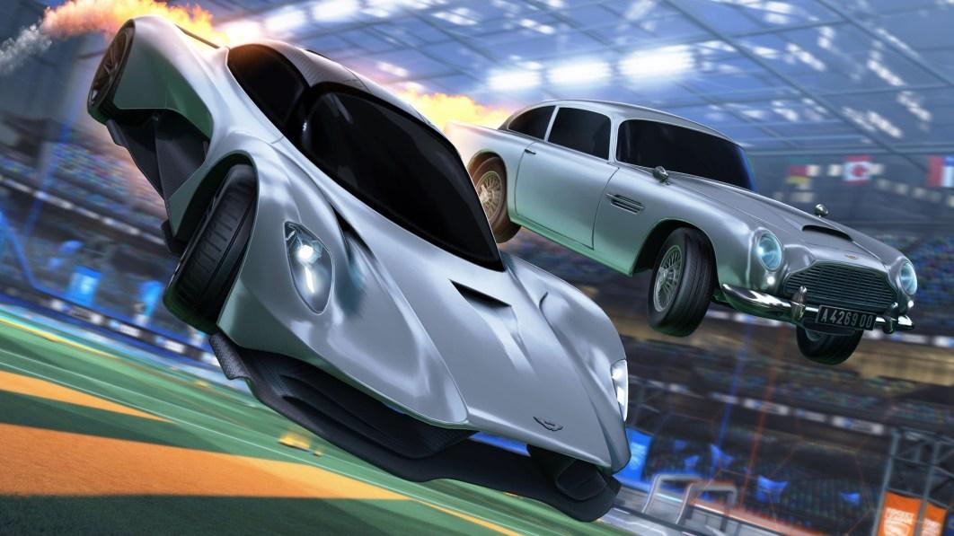 """James Bonds neuester Aston Martin kommt zu """"Rocket League""""€."""