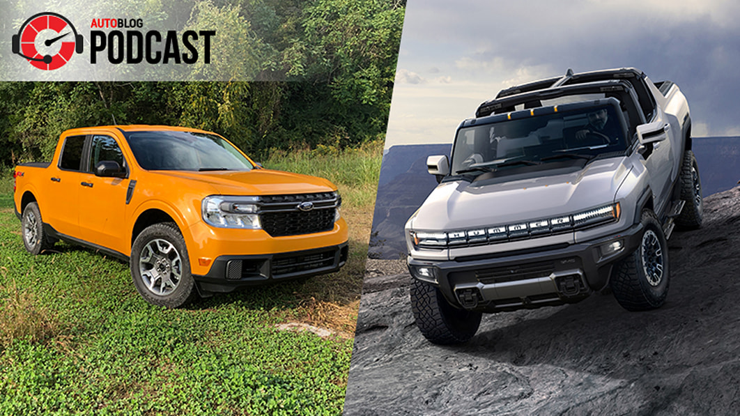 2022 Ford Maverick and GMC Hummer EV driven | Autoblog Podcast #699