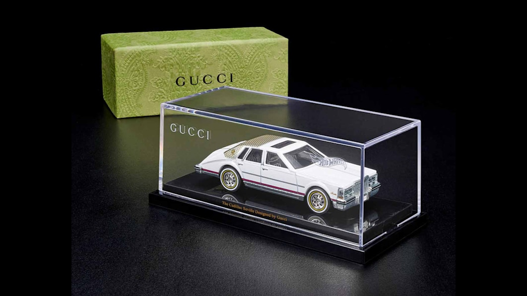 Hot Wheels partners with Gucci for a diecast 1982 Cadillac Seville. Wait, what?