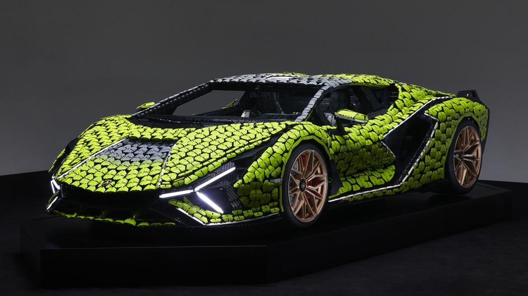 Lego builds a life-size Lamborghini Sian