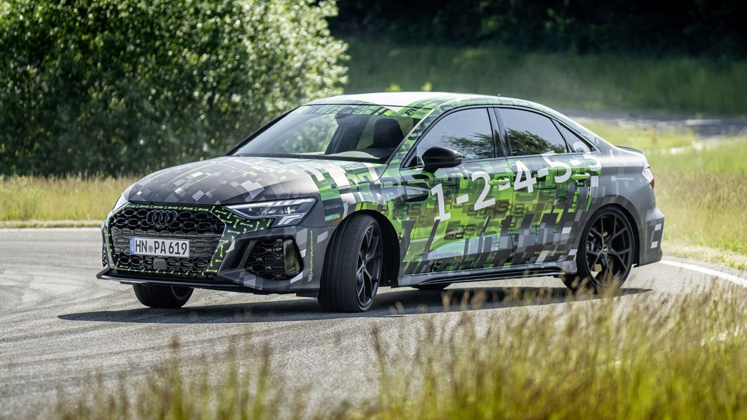 2022 Audi RS 3 in sneak preview: 401 horsepower, trick rear differential