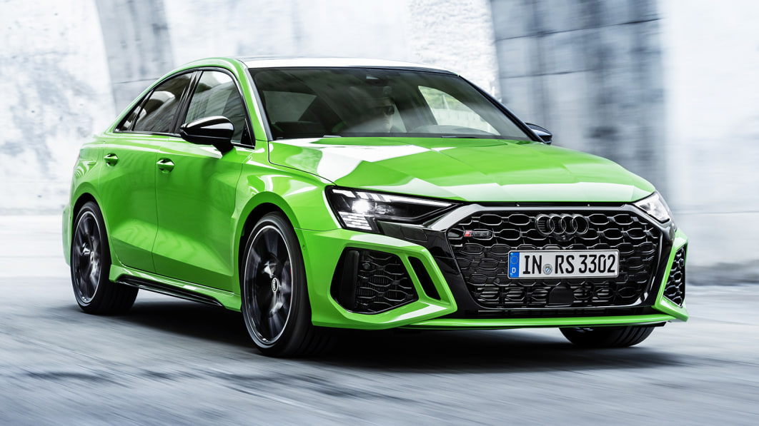 2022 Audi RS 3 officially revealed with fat fenders and fancy lights