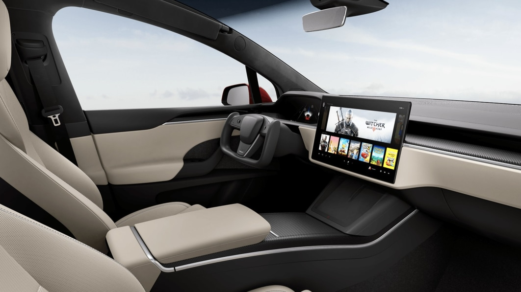 """Tesla update adds Disney+ streaming and a """"Car Wash"""" mode"""