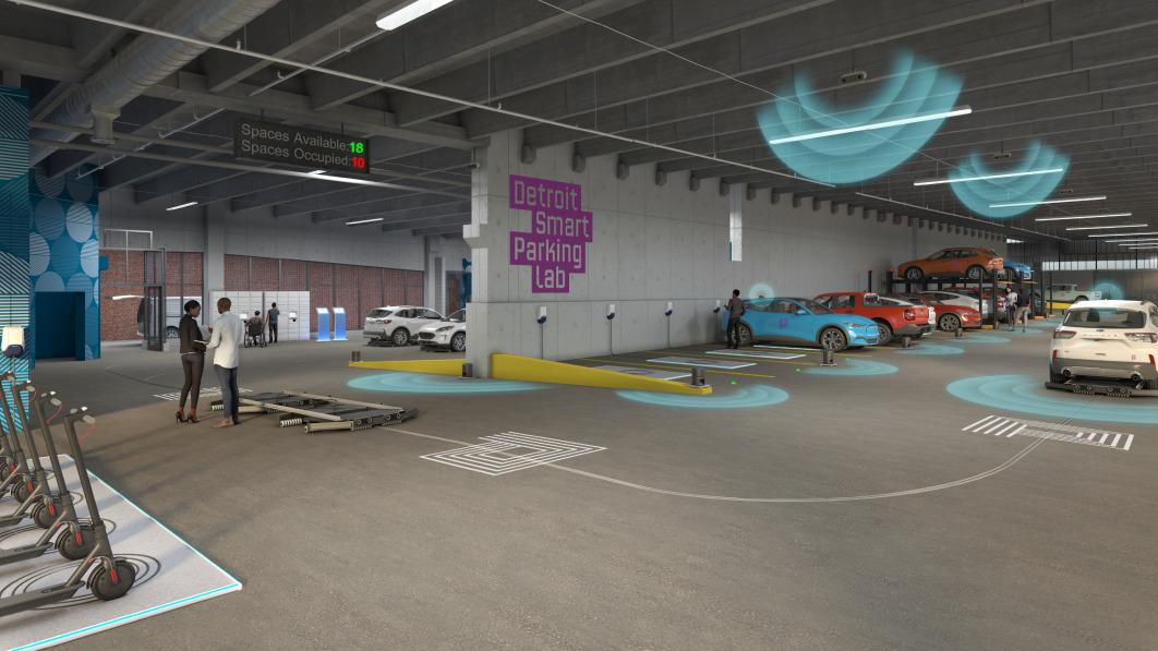 Ford und Bosch testen intelligente Einparktechnik in einem Parkhaus in Detroit