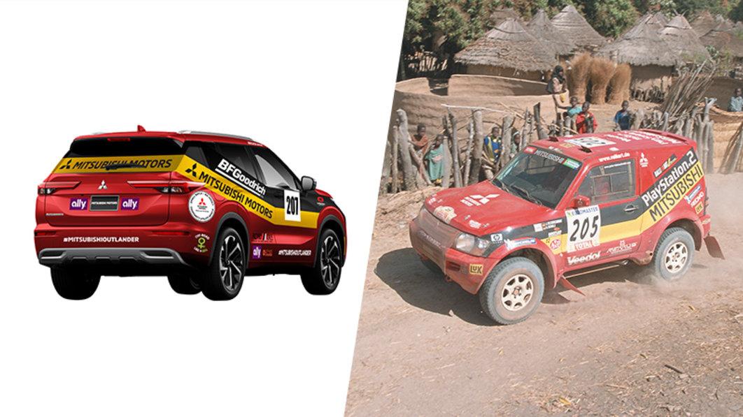 Mitsubishi kehrt mit neuem Outlander und Retro-Verpackung zur Rebelle Rallye zurück