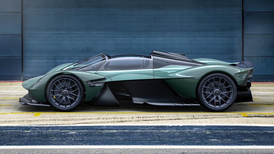 Aston Martin Valkyrie Spider verliert das Dach und verändert die Türen