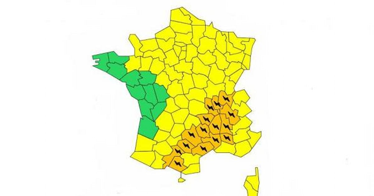 Trois départements en alerte orange pour les orages