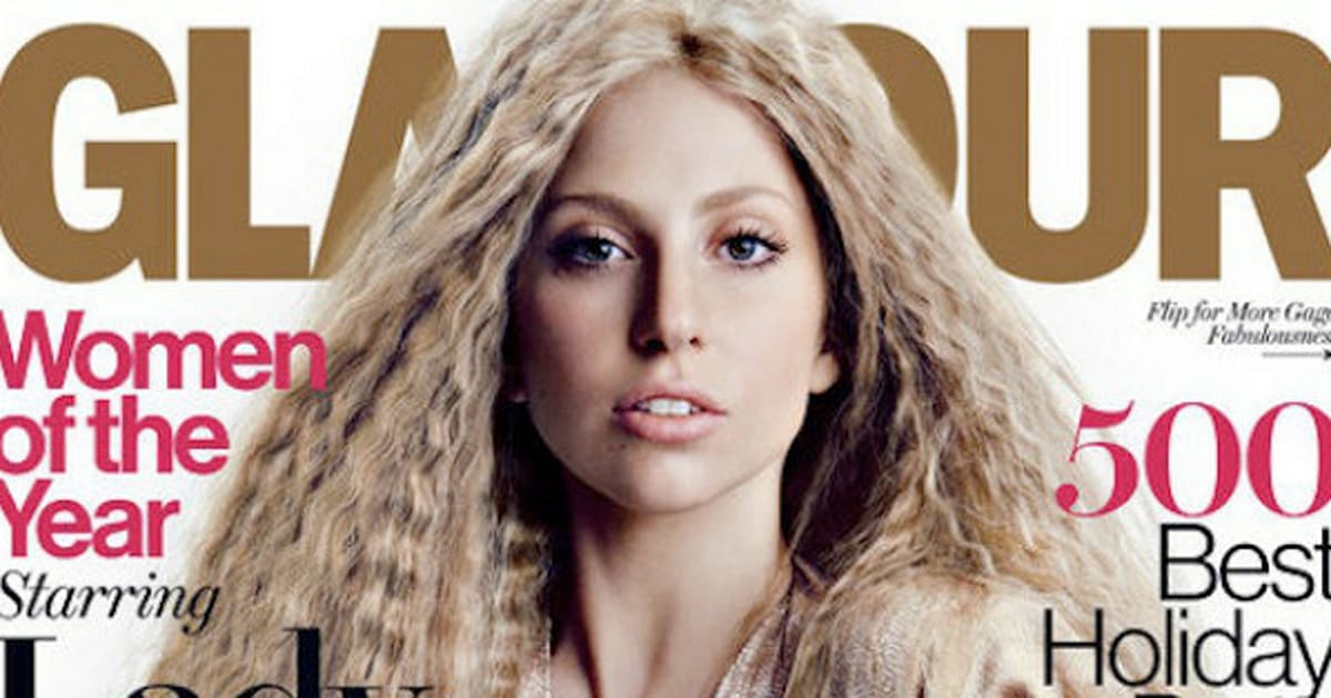 Lady Gaga's Glamour Magazine Cover Is Surprisingly Subtle ...