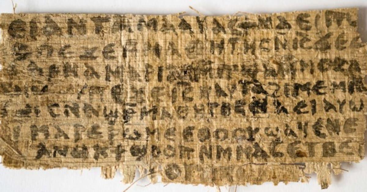 """Papiro que fala em """"esposa de Jesus"""" não é falsificação (ESTUDO)"""