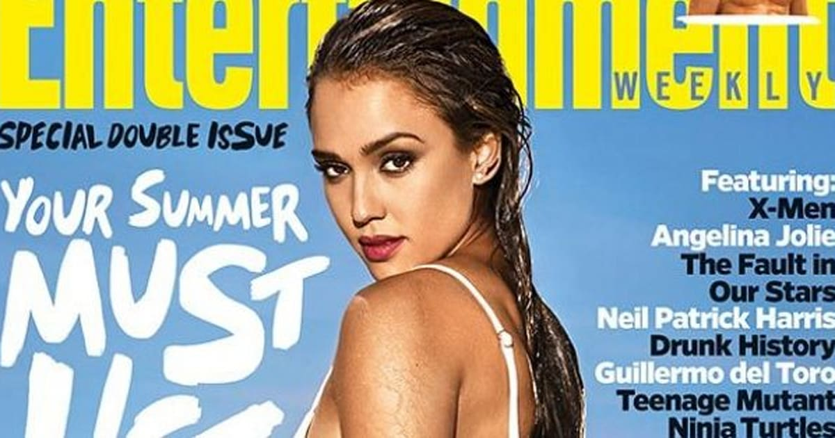 36cb00eddf666 Jessica Alba Flaunts Hot Bikini Body On Entertainment Weekly Cover ...