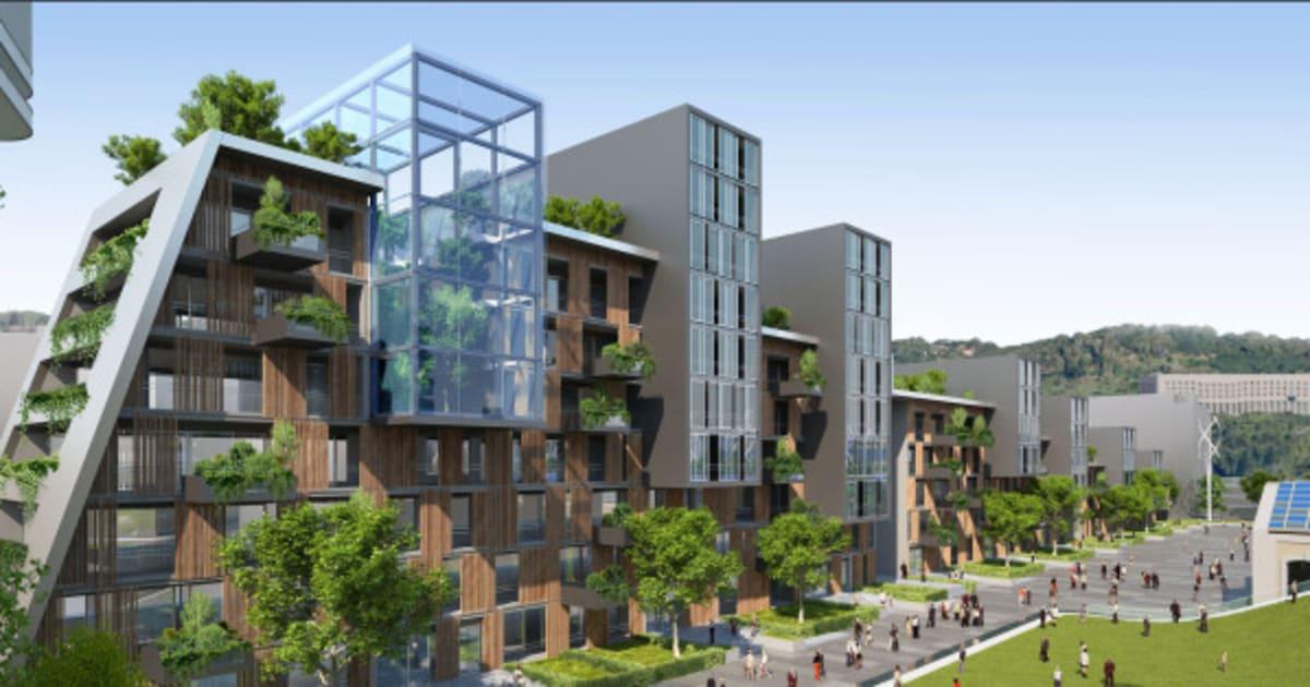 Ville du futur l 39 architecte vincent callebaut imagine l 39 avenir avec son projet de quartier - Immeuble ecologique ...