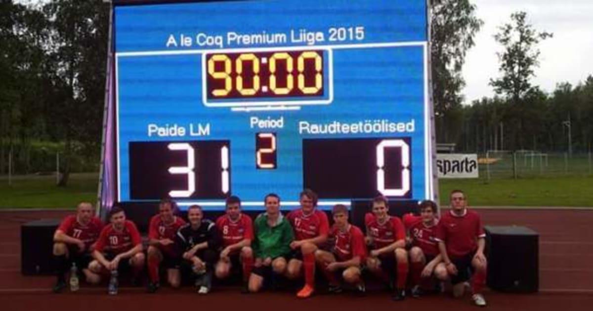 7x1 é pouco! Equipe da Estônia é massacrada por 31 a 0 e ainda posa para a foto