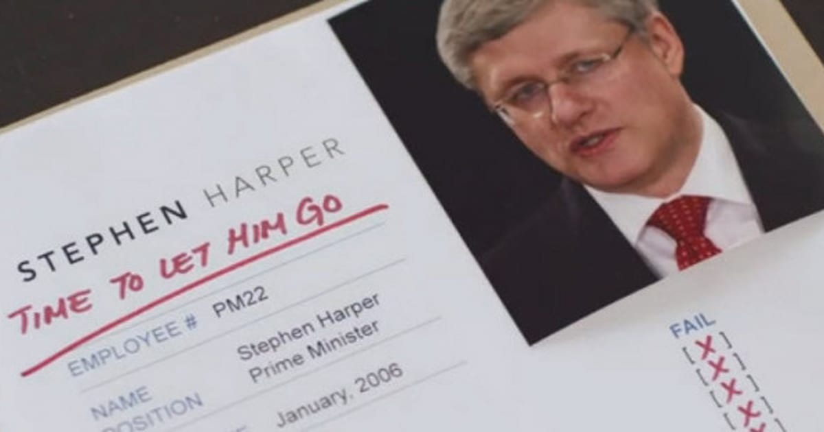 new ndp ad parodies tory attack says it s time to let harper go