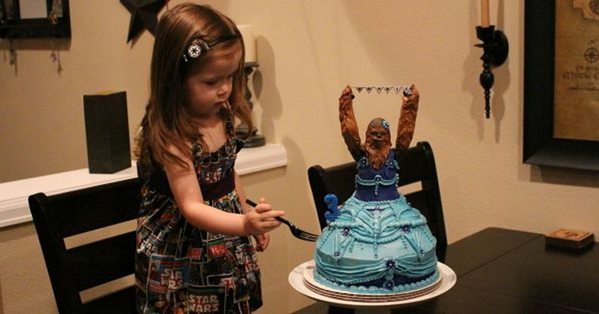 Chewbacca Birthday Cake Wins Three Year Olds Birthday Party