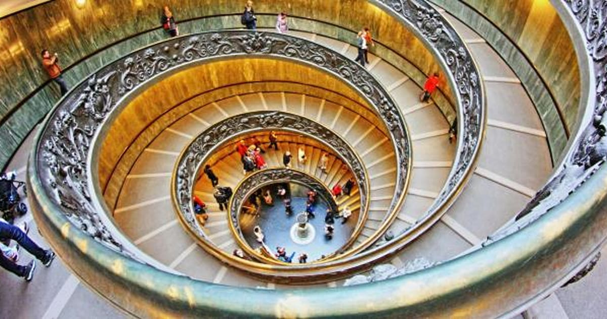 ¡Qué mareo! Las escaleras de caracol más espectaculares del mundo