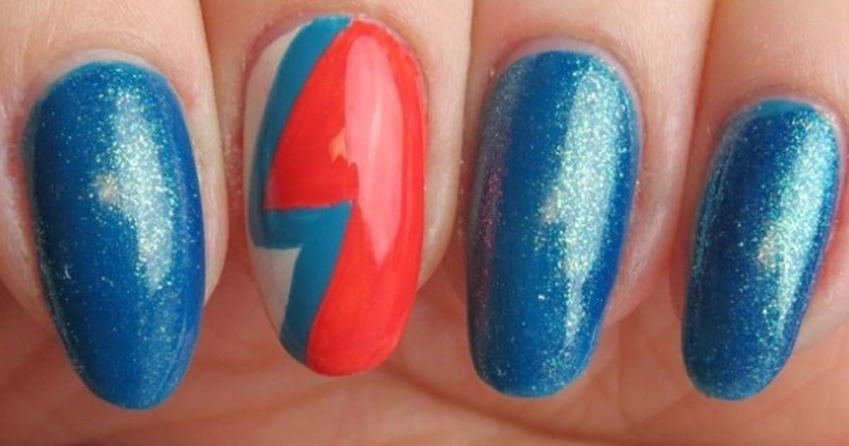 David Bowie A Nail Art Design Inspired By Ziggy Stardust